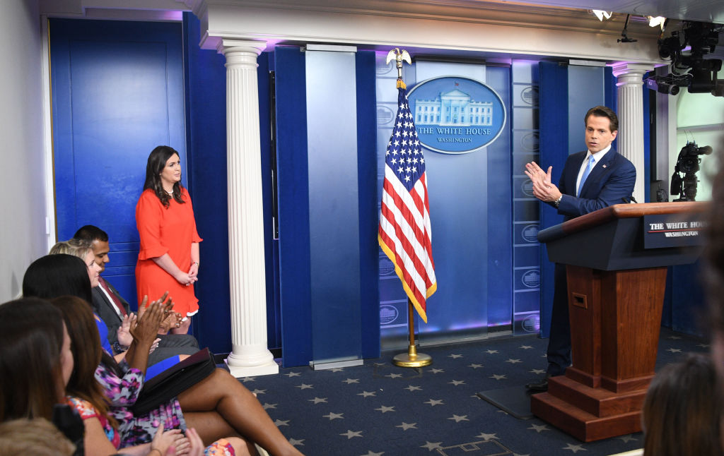 Anthony Scaramucci and Sarah Huckabee Sanders