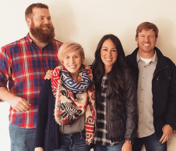 Scott and Erin Napier with Chip and Joanna Gaines