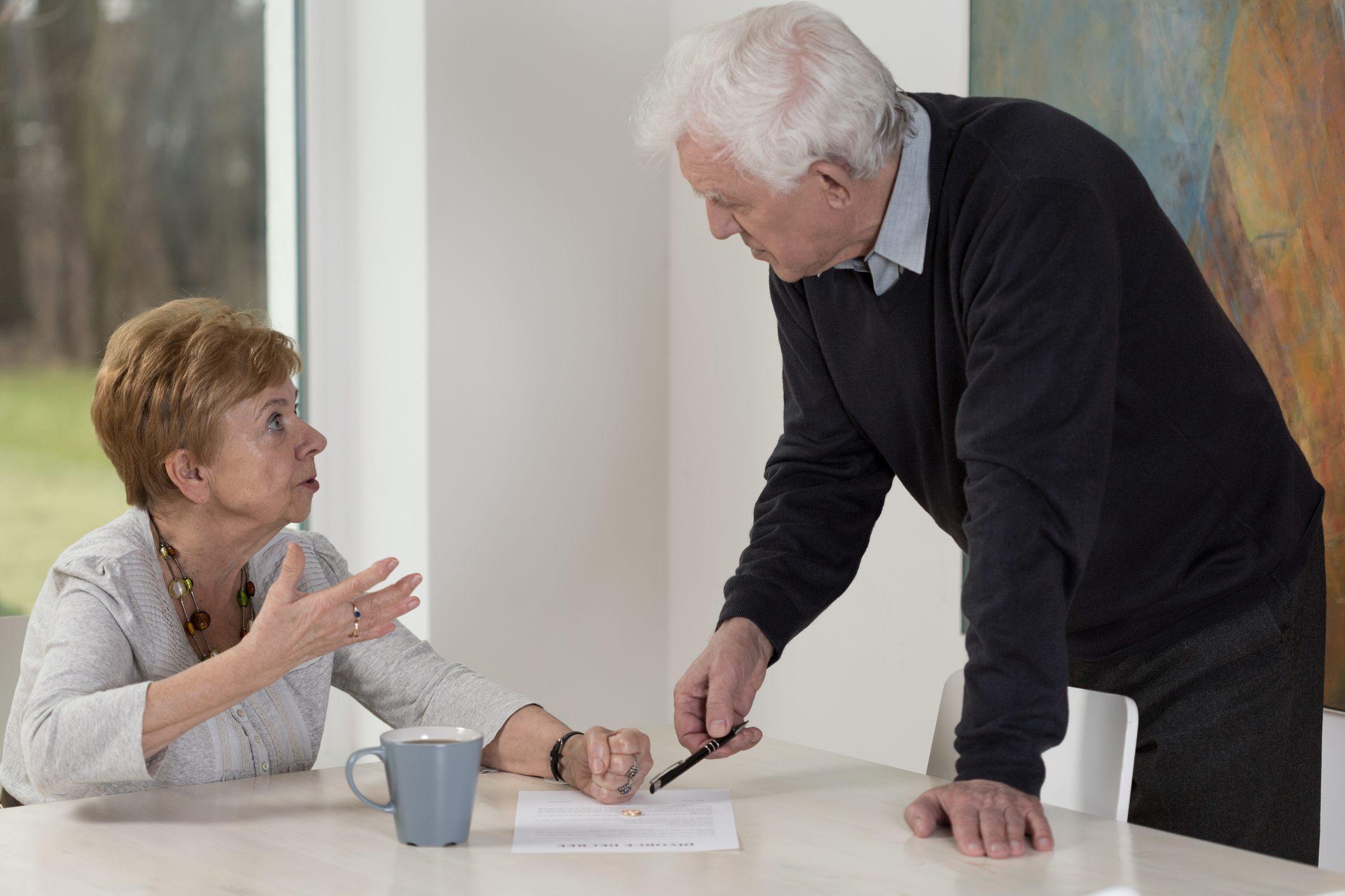Senior husband asking for a divorce.