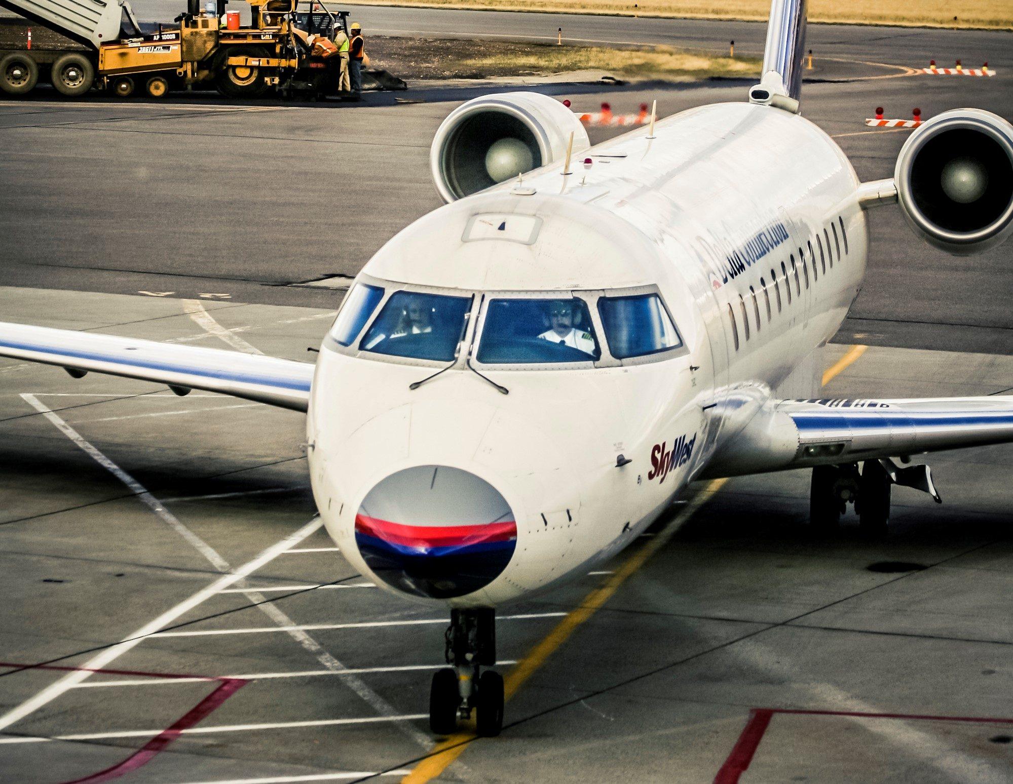 Skywest plane at gate