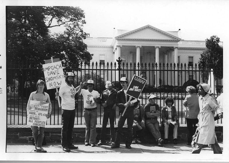 Solidarity protest in front of the White House