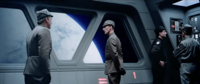 An imperial officer in a ship.