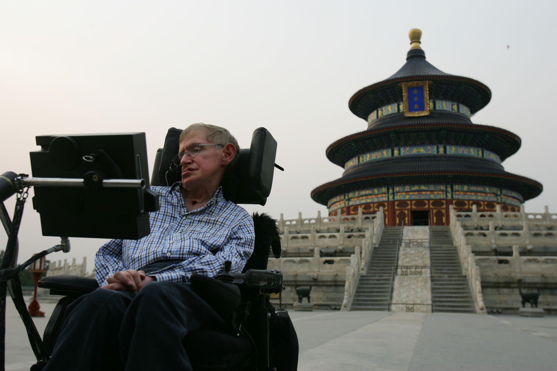 British Scientist Stephen Hawking Visits China