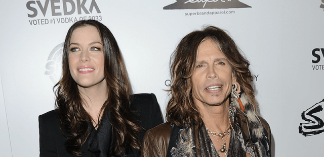 Liv and Stephen Tyler on a red carpet.