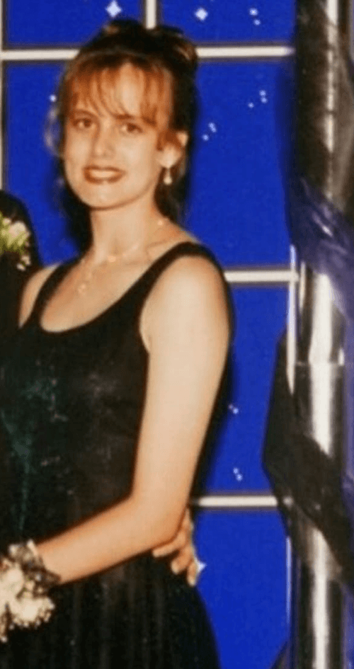 Stormy Daniels at her high school prom.