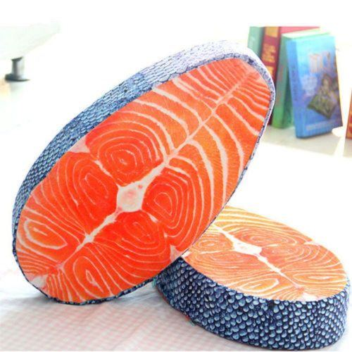 Sushi salmon pillow