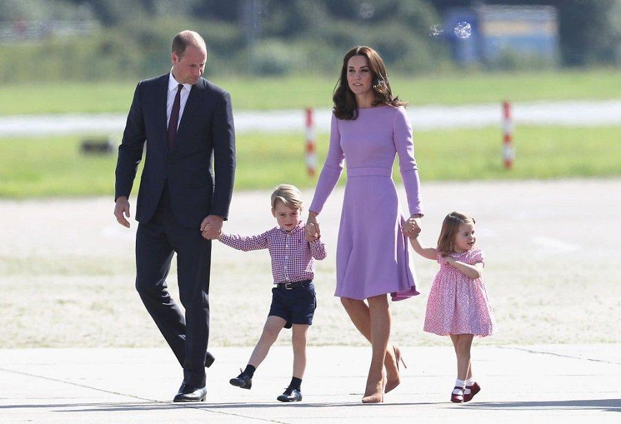 Prince William, Duke of Cambridge, Catherine, Prince George and Princess Charlotte