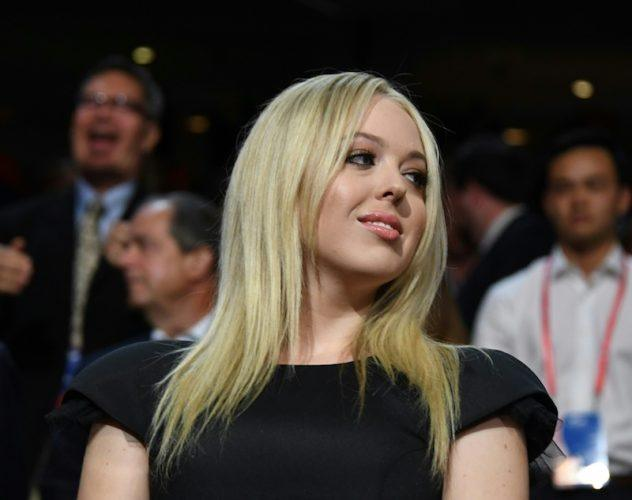 Tiffany Trump sitting in an audience.