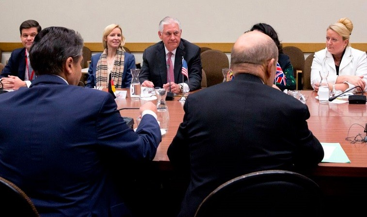 Tillerson attends a NATO meeting.