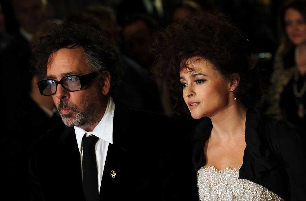 Tim Burton and Helena Bonham Carter attend the Premiere of 'Frankenweenie'