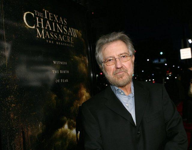 Tobe Hooper at a movie premiere.