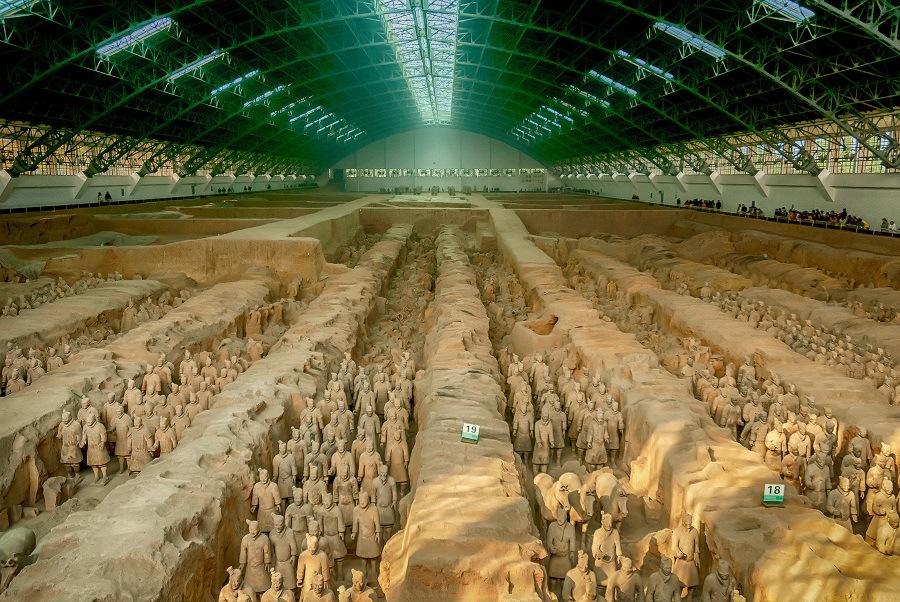 The Terracotta Warriors inside the Qin Shi Huang Mausoleum