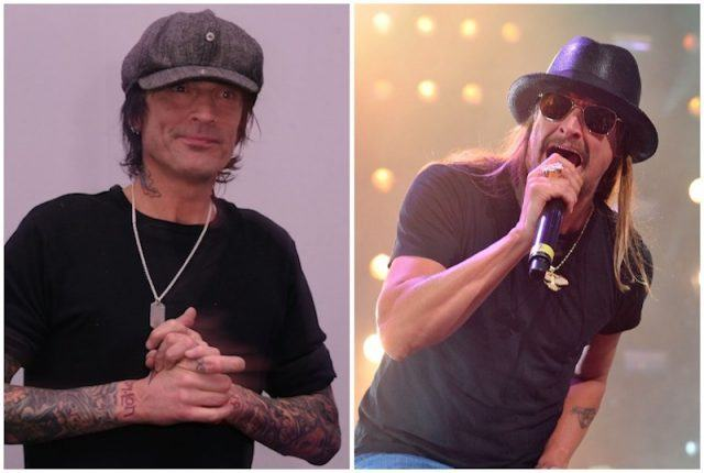 Tommy Lee and Kid Rock collage.