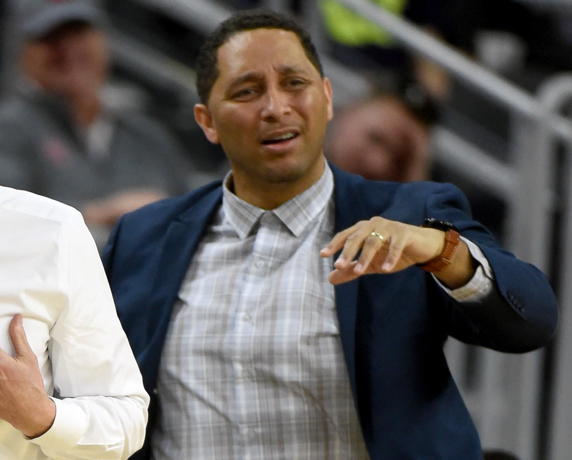 associate head coach Tony Bland of the USC Trojans