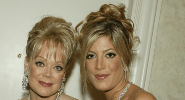 Tori and Candy Spelling together in a photograph.