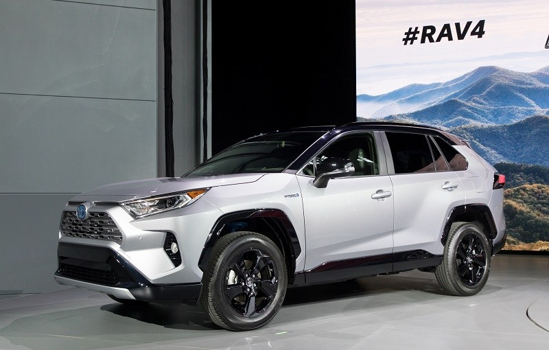Look at silver 2019 RAV4 Hybrid