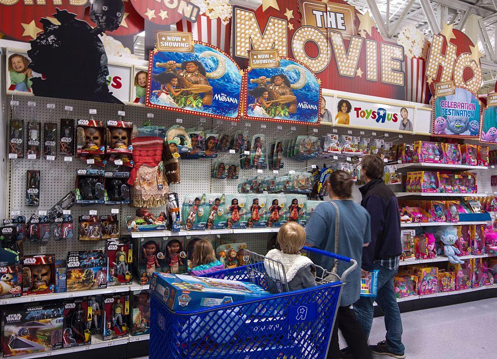 Customers shopping for Moana toys