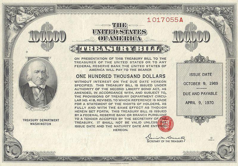 Treasury bill (t-bill) from 1969