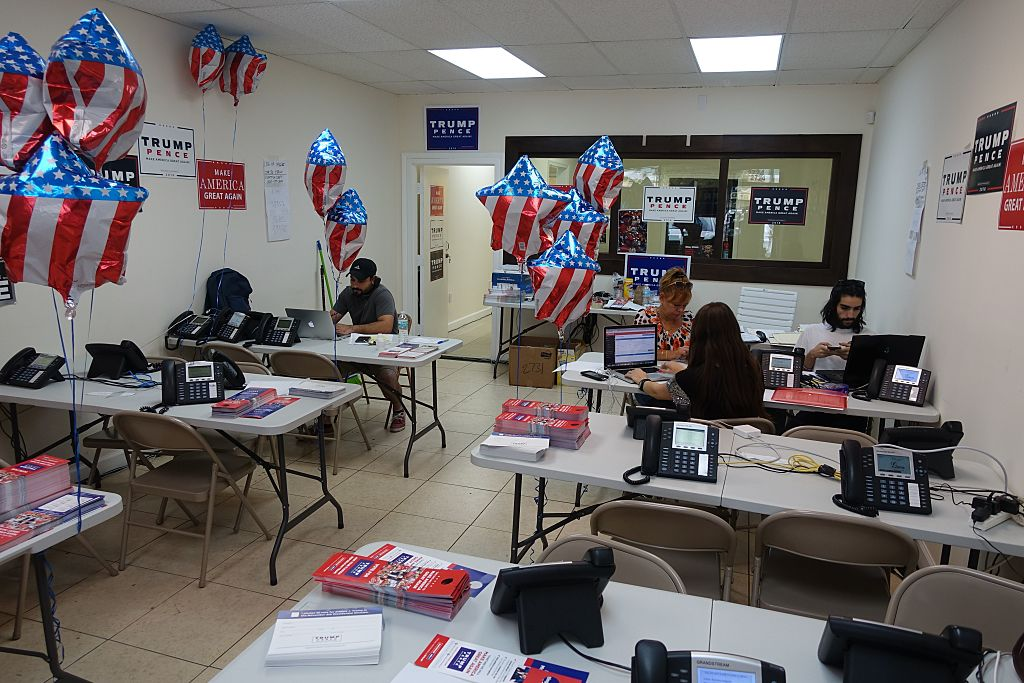 Volunteers and staff trump campaign