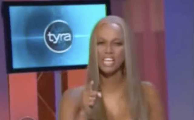 Tyra Banks during a segment on her talk show.