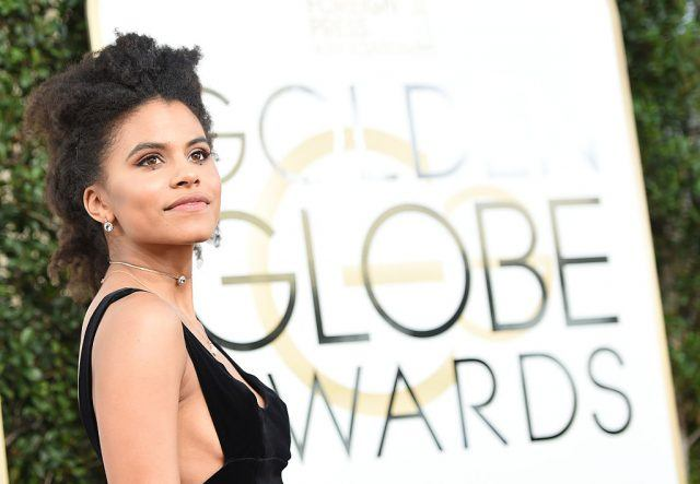 Actress Zazie Beetz arrives at the 74th annual Golden Globe Awards