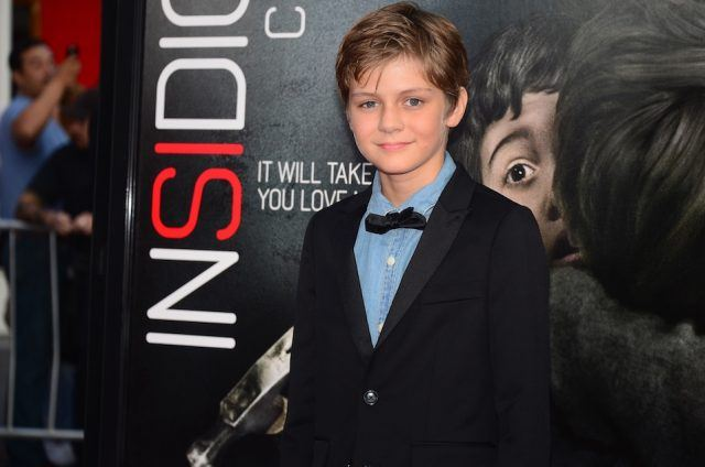 Actor Ty Simpkins poses on arrival for the World premiere of the film 'Insidious: Chapter 2'