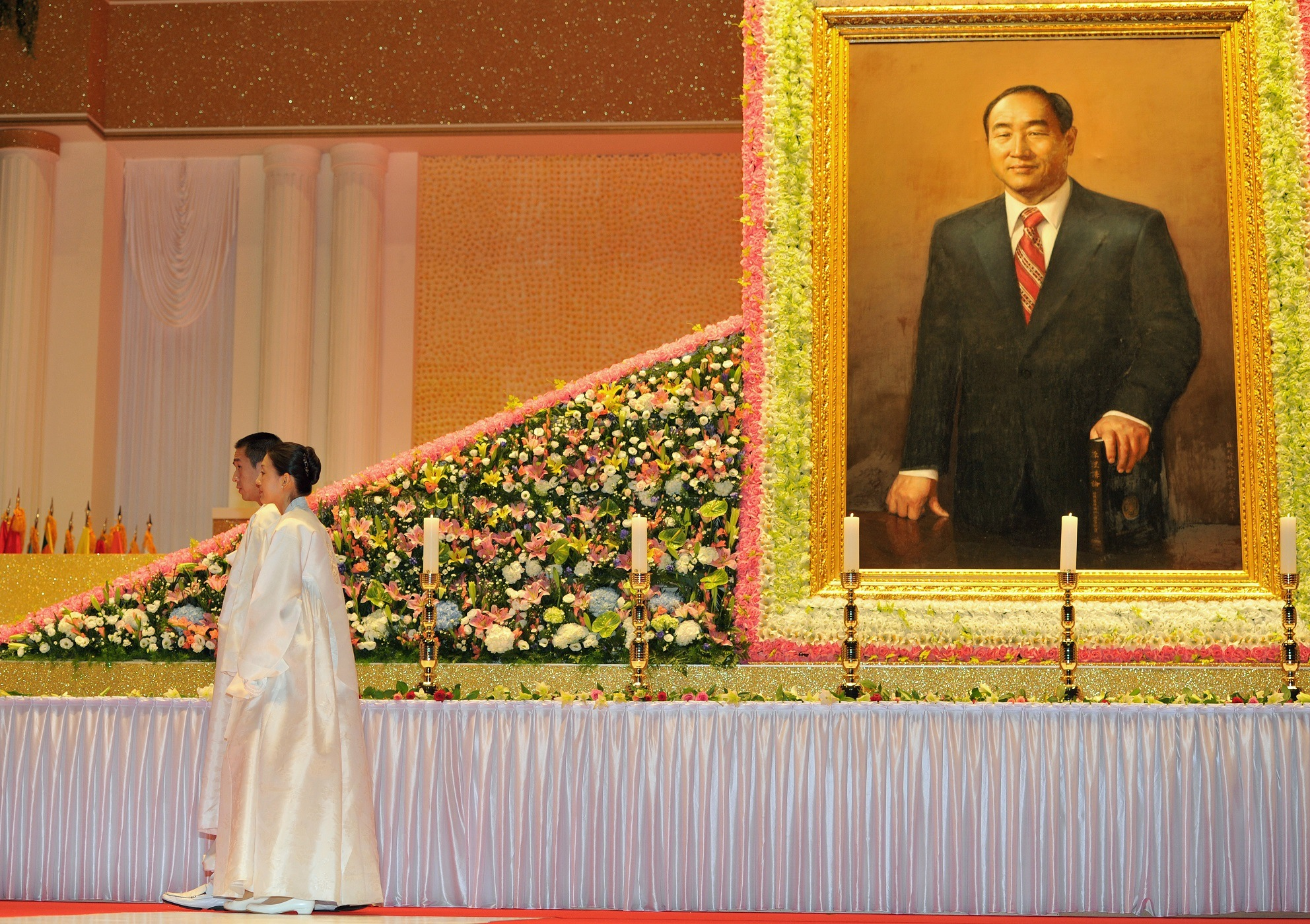 Unification Church founder Hyung-Jin Moon and Sun Myung Moon