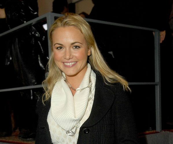 Vanessa Trump poses at the Imperia Vodka booth during Mercedes-Benz Fashion Week Fall 2008.