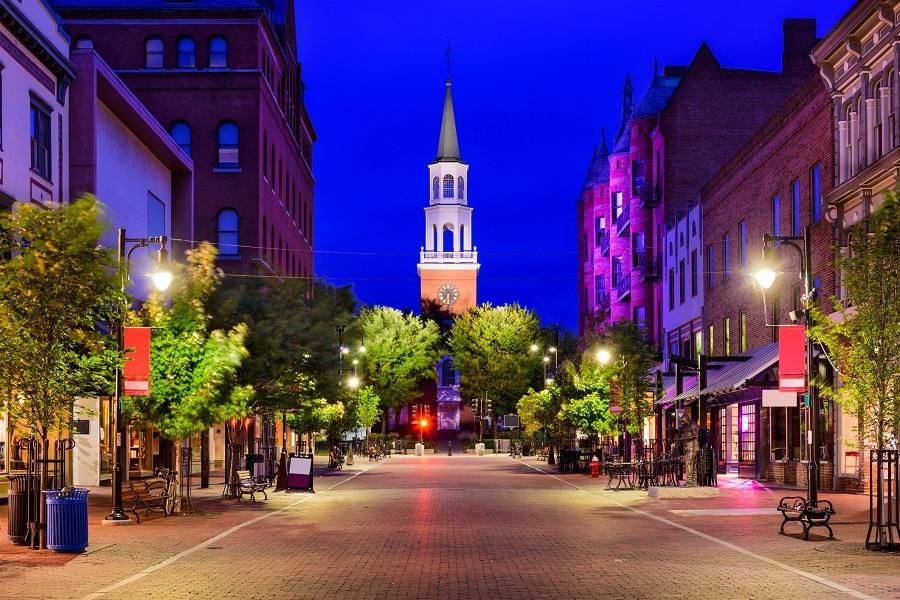 USA at Church Street Vermont