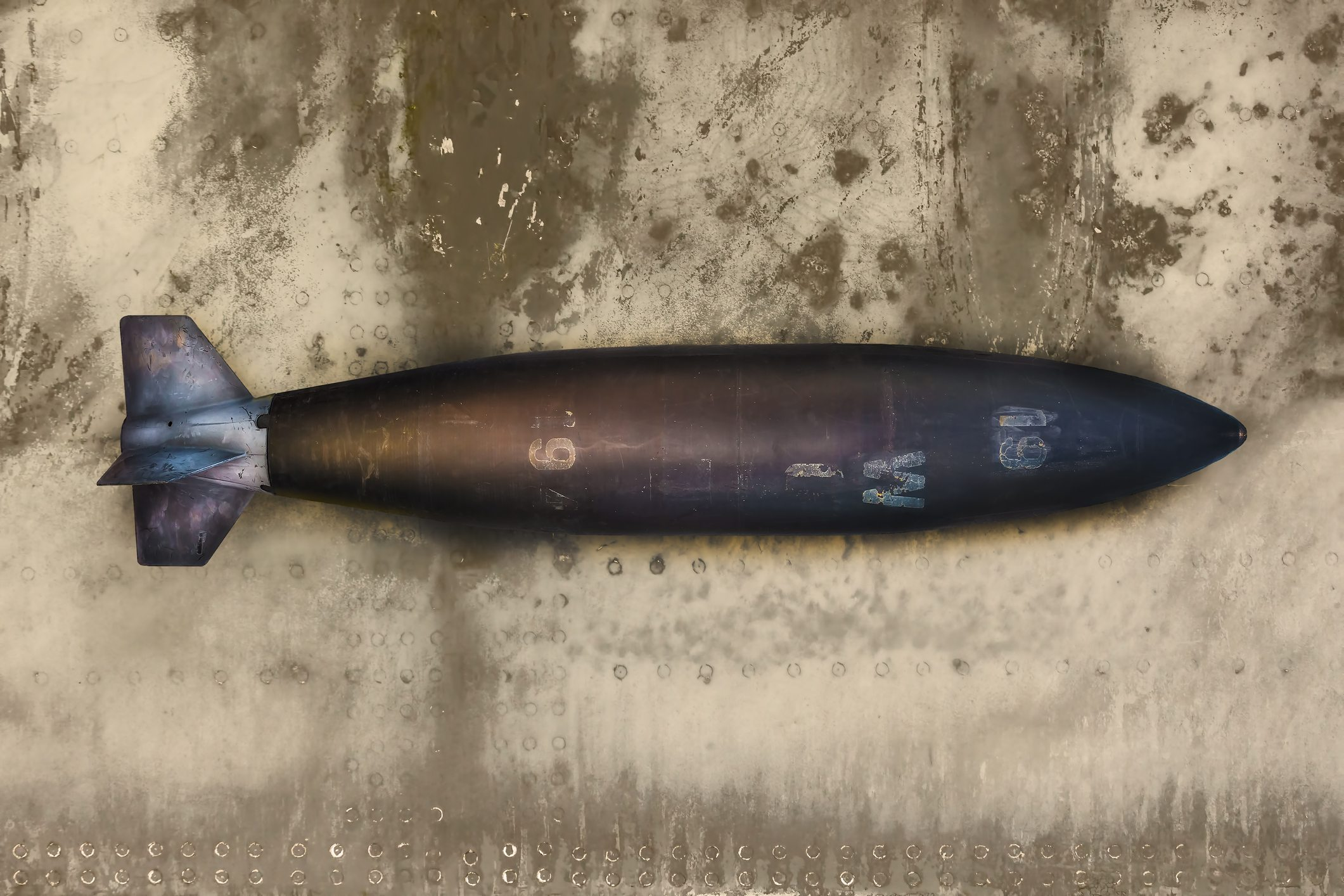 Ancient military missile bomb