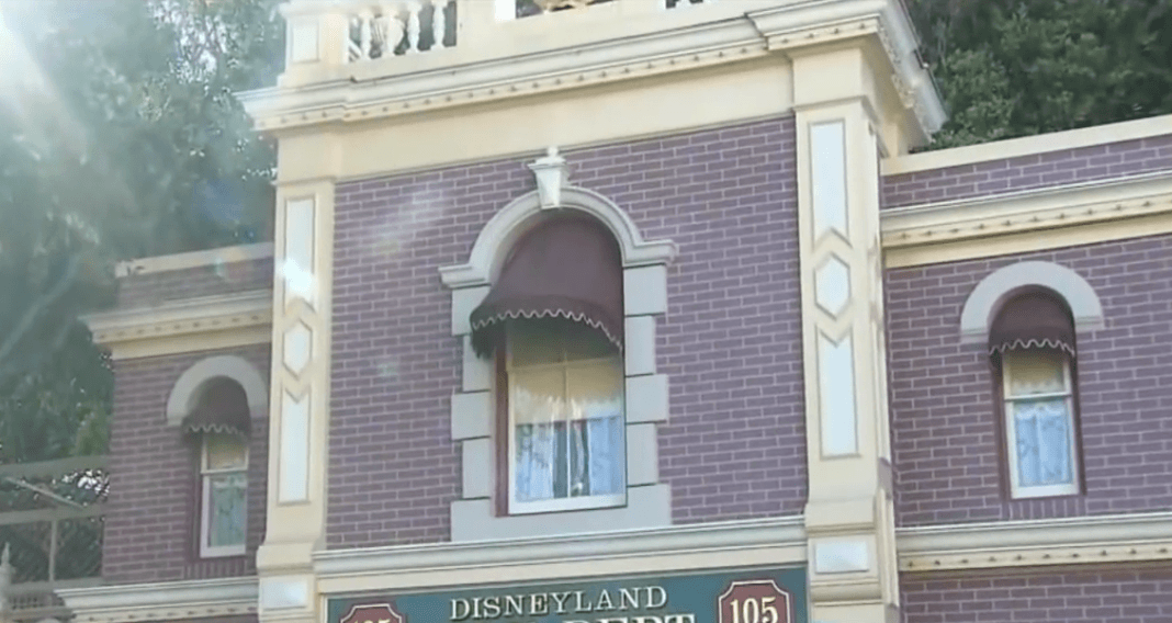 Walt Disney apartment window