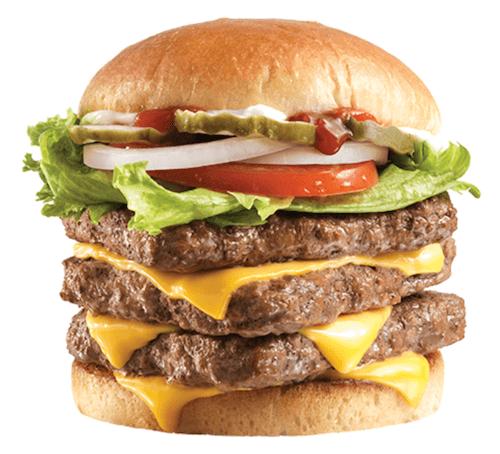 A tall Wendy's burger.