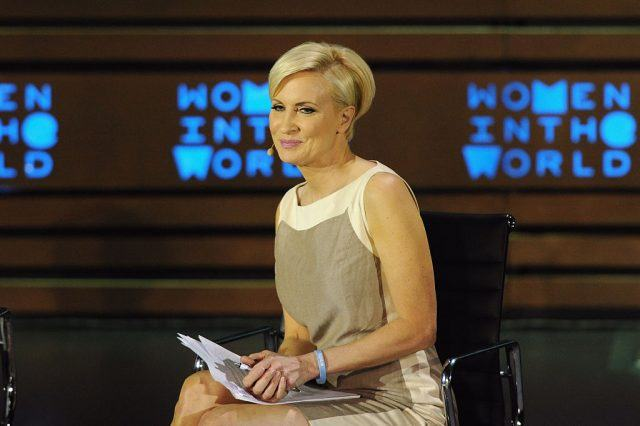 Host Mika Brzezinski speaks on stage during the Women In The World Summit