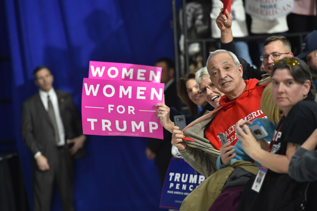 Women for Trump signs