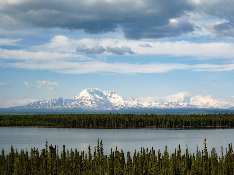 The beautiful view of Wrangell-St Elias National Park