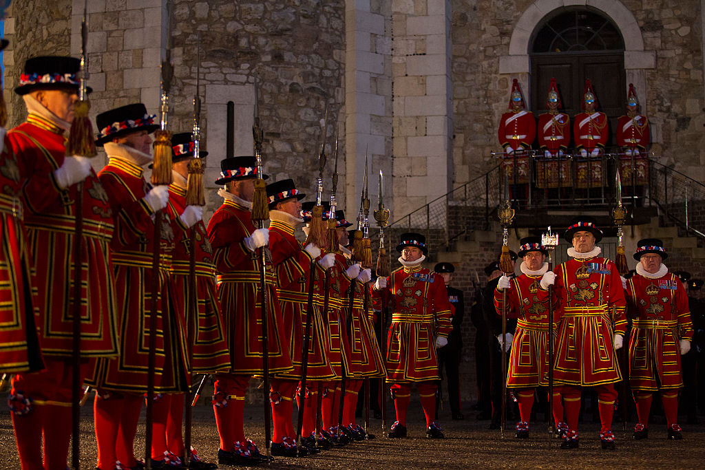 Yeoman warders or beefeaters at the tower of lonon