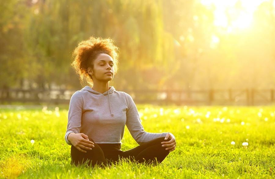 Yoga in sunshine