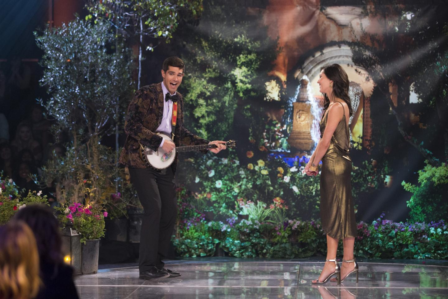Ryan Peterson and Becca Kufrin on The Bachelorette