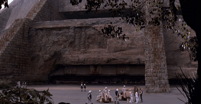 The base at Yavin IV in 'A New Hope' .