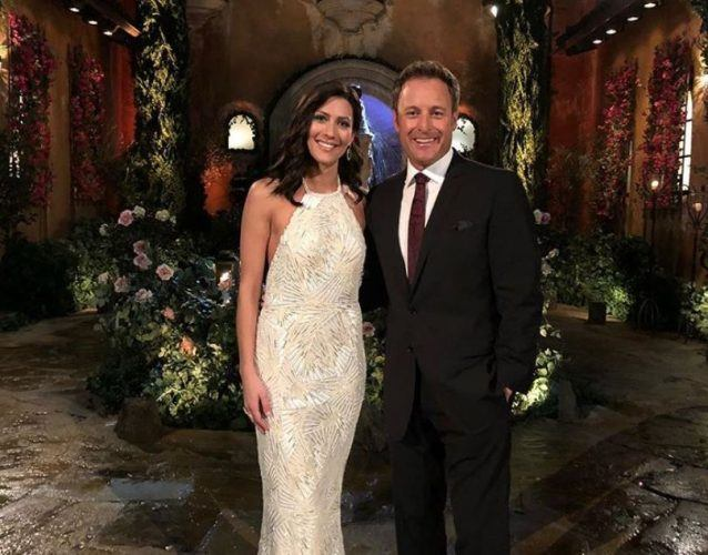 Becca Kufrin and Chris Harrison