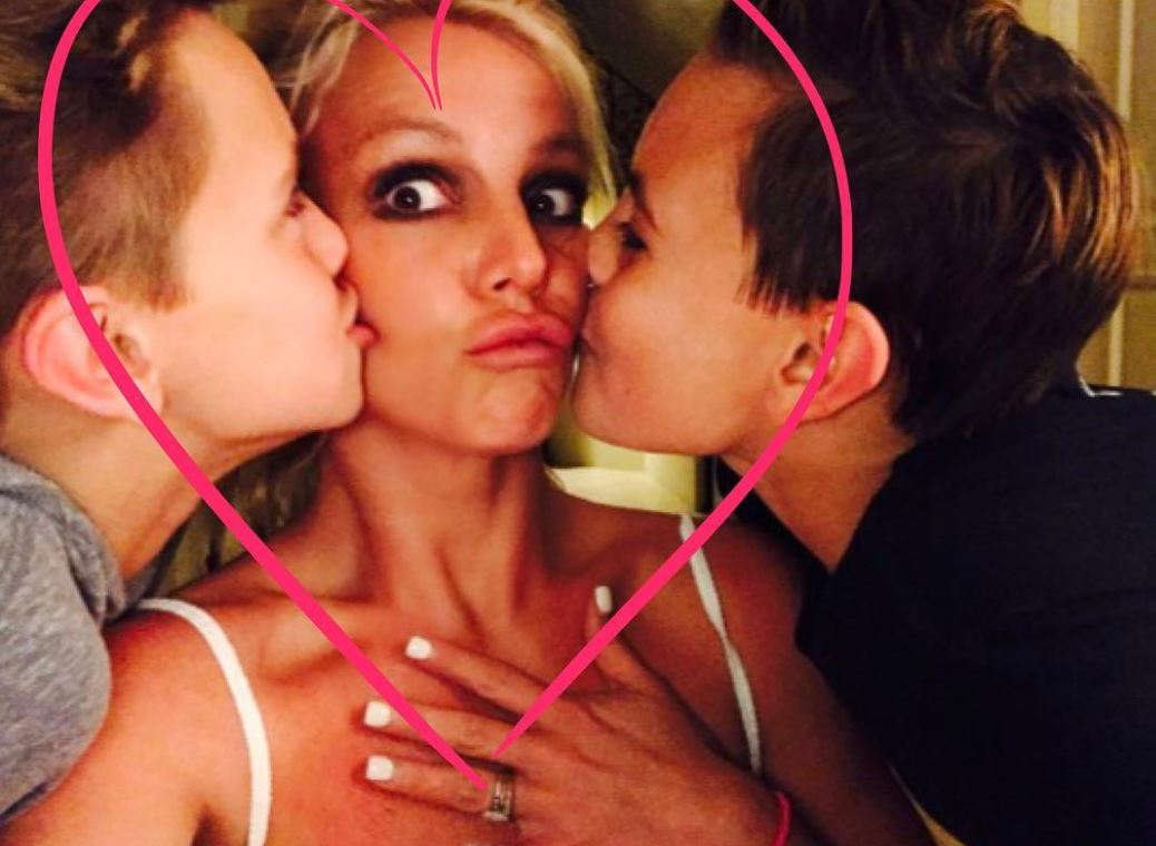Britney Spears and her two sons