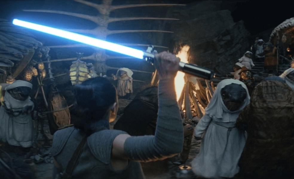 Rey bursts into the caretaker village