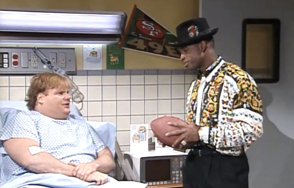Chris Farley and Deion Sanders on Saturday Night Live