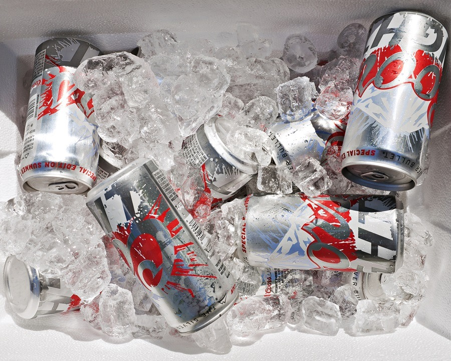 Coors Light beer in a cooler full of ice