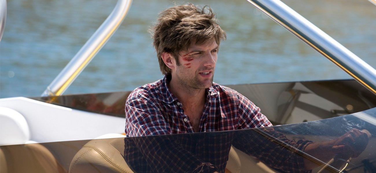 Adam Scott on a boat