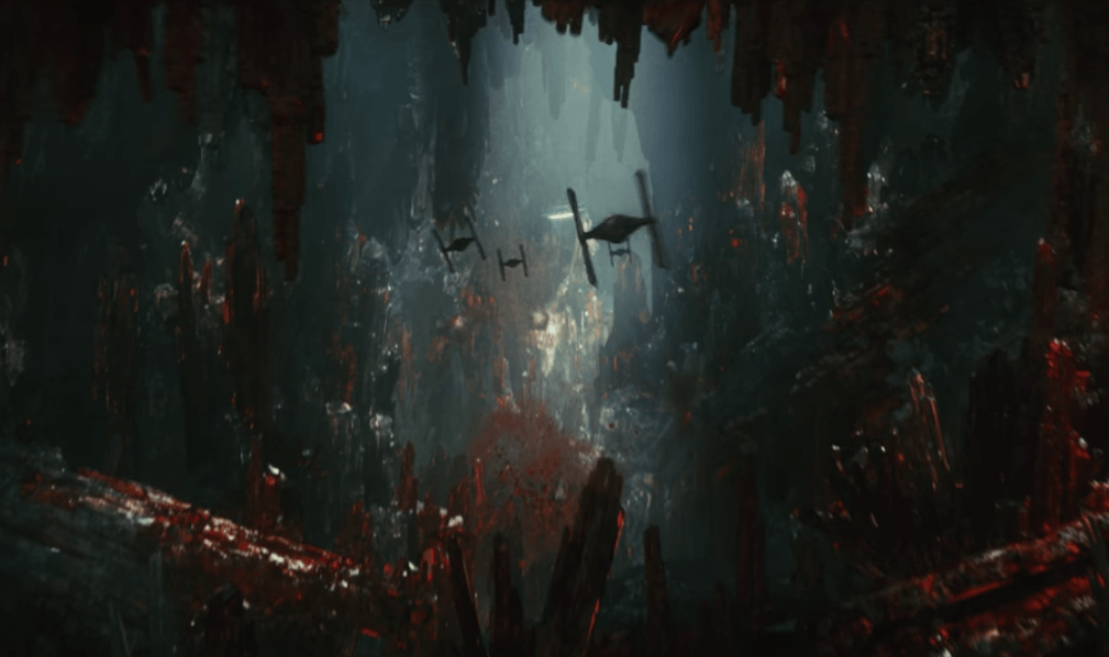 The caverns of Crait in The Last Jedi