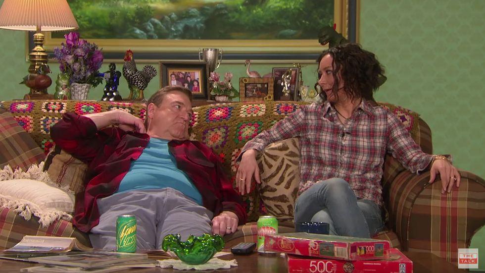 Goodman and Gilbert reunited on The Talk