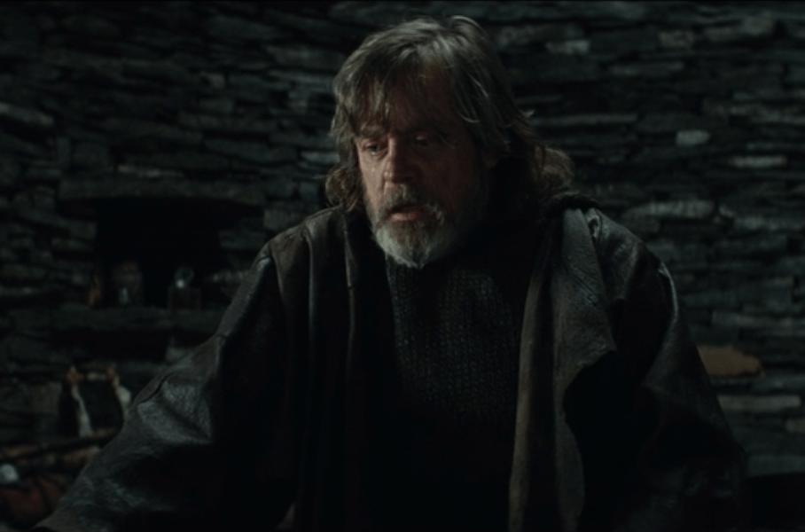 Luke in the deleted scenes of Star Wars: The Last Jedi