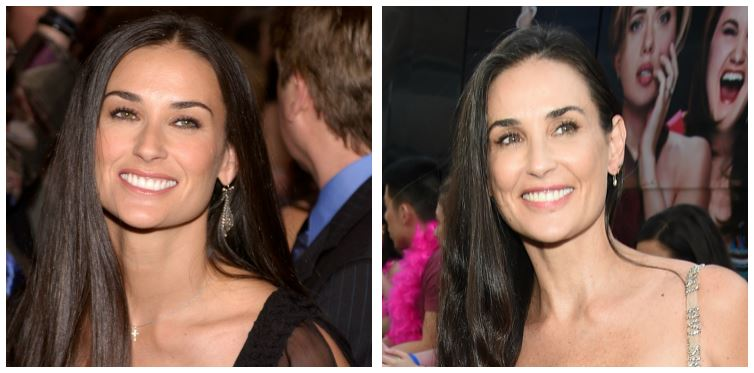 Demi Moore then and now
