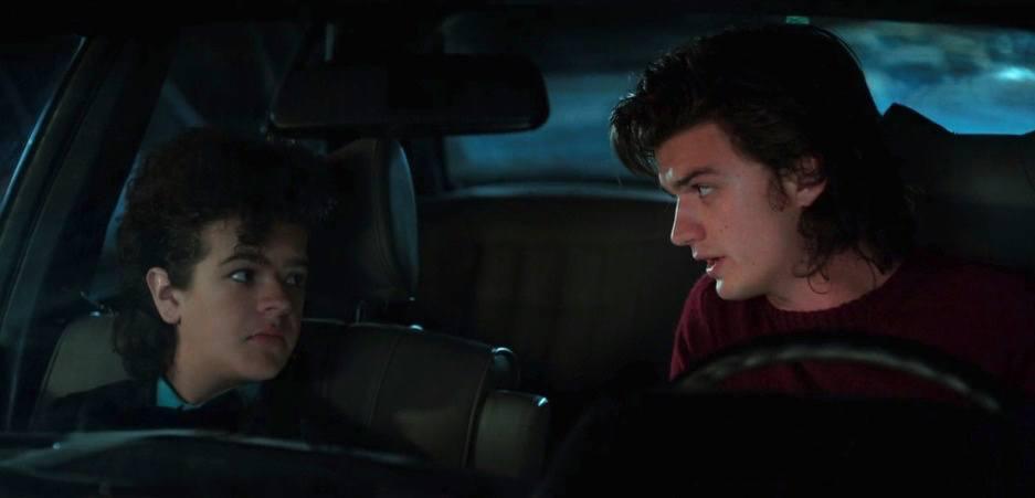 Dustin and Steve on Stranger Things